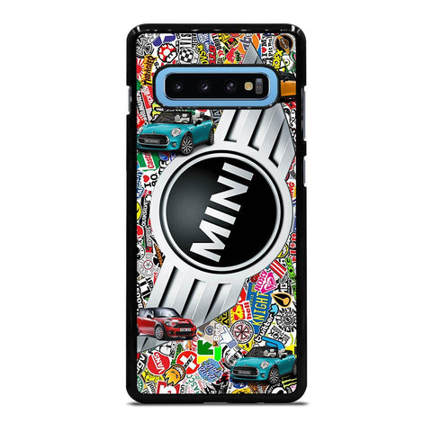 coque custodia cover fundas hoesjes j3 J5 J6 s20 s10 s9 s8 s7 s6 s5 plus edge D35046 MINI COOPER BADGE STICKER BOMB #1 Samsung Galaxy S10 Plus Case