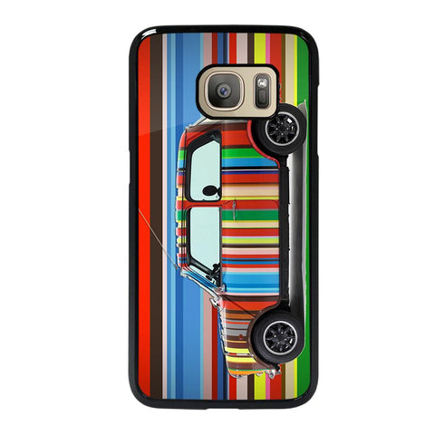 coque custodia cover fundas hoesjes j3 J5 J6 s20 s10 s9 s8 s7 s6 s5 plus edge D35173 MINI COOPER STRIPE PAUL SMITH Samsung Galaxy S7 Case