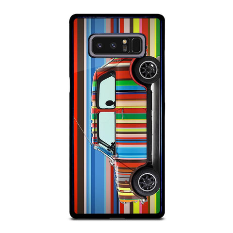coque custodia cover fundas hoesjes j3 J5 J6 s20 s10 s9 s8 s7 s6 s5 plus edge D35163 MINI COOPER STRIPE PAUL SMITH Samsung Galaxy Note 8 Case