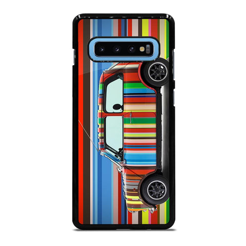 coque custodia cover fundas hoesjes j3 J5 J6 s20 s10 s9 s8 s7 s6 s5 plus edge D35168 MINI COOPER STRIPE PAUL SMITH Samsung Galaxy S10 Plus Case