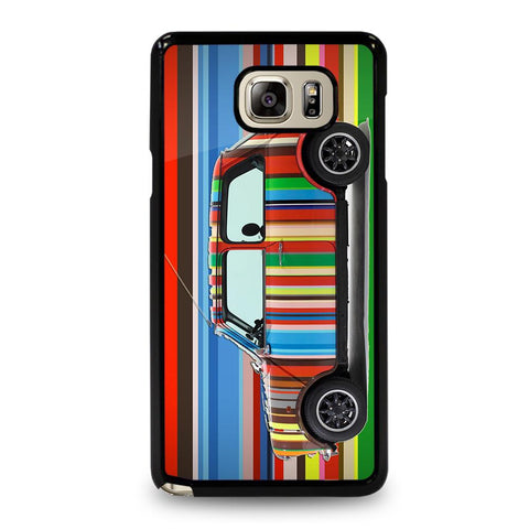 coque custodia cover fundas hoesjes j3 J5 J6 s20 s10 s9 s8 s7 s6 s5 plus edge D35162 MINI COOPER STRIPE PAUL SMITH Samsung Galaxy Note 5 Case
