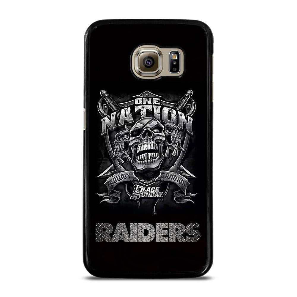 OAKLAND RAIDERS BLACK ONE NATION Cover Samsung Galaxy S6
