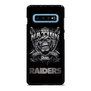 OAKLAND RAIDERS BLACK ONE NATION Cover Samsung Galaxy S10 Plus