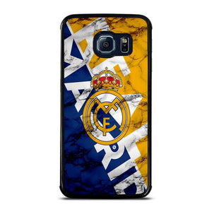 REAL MADRID MARBLE ART LOGO Cover Samsung Galaxy S6 Edge