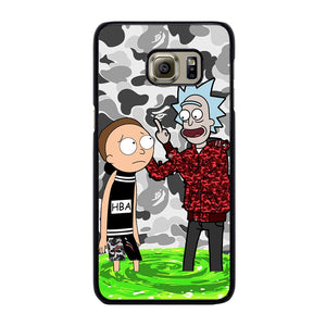 RICK AND MORTY BAPE Cover Samsung Galaxy S6 Edge Plus