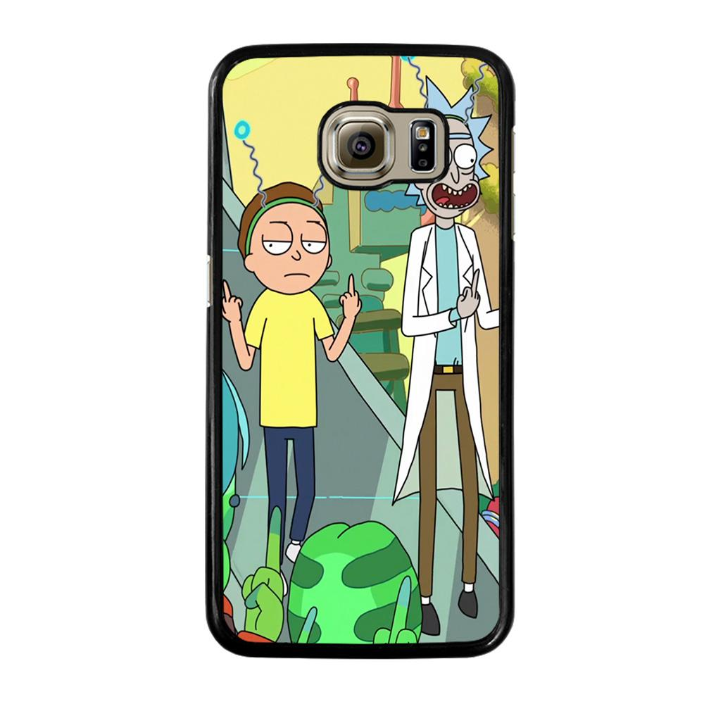 RICK AND MORTY CARTOON Cover Samsung Galaxy S6