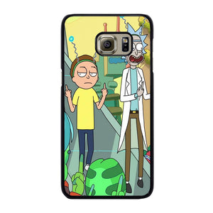 RICK AND MORTY CARTOON Cover Samsung Galaxy S6 Edge Plus