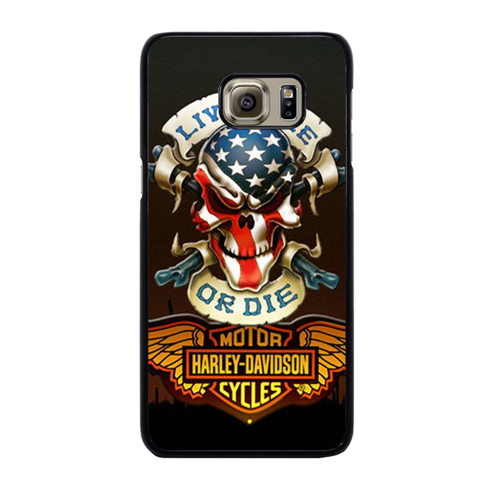 SKULL AND WINGS HARLEY DAVIDSON Cover Samsung Galaxy S6 Edge Plus