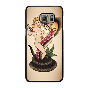 SNAKE CHAMER SAILOR JERRY TATTOO Cover Samsung Galaxy S6 Edge Plus