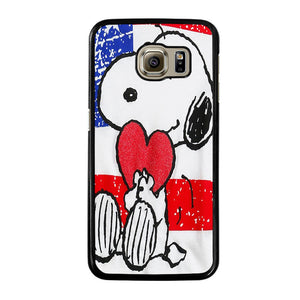 SNOOPY HEARTS AMERICA GIRLS PEANUTS Cover Samsung Galaxy S6