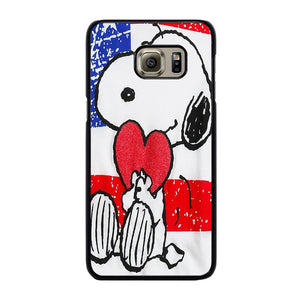 SNOOPY HEARTS AMERICA GIRLS PEANUTS Cover Samsung Galaxy S6 Edge Plus