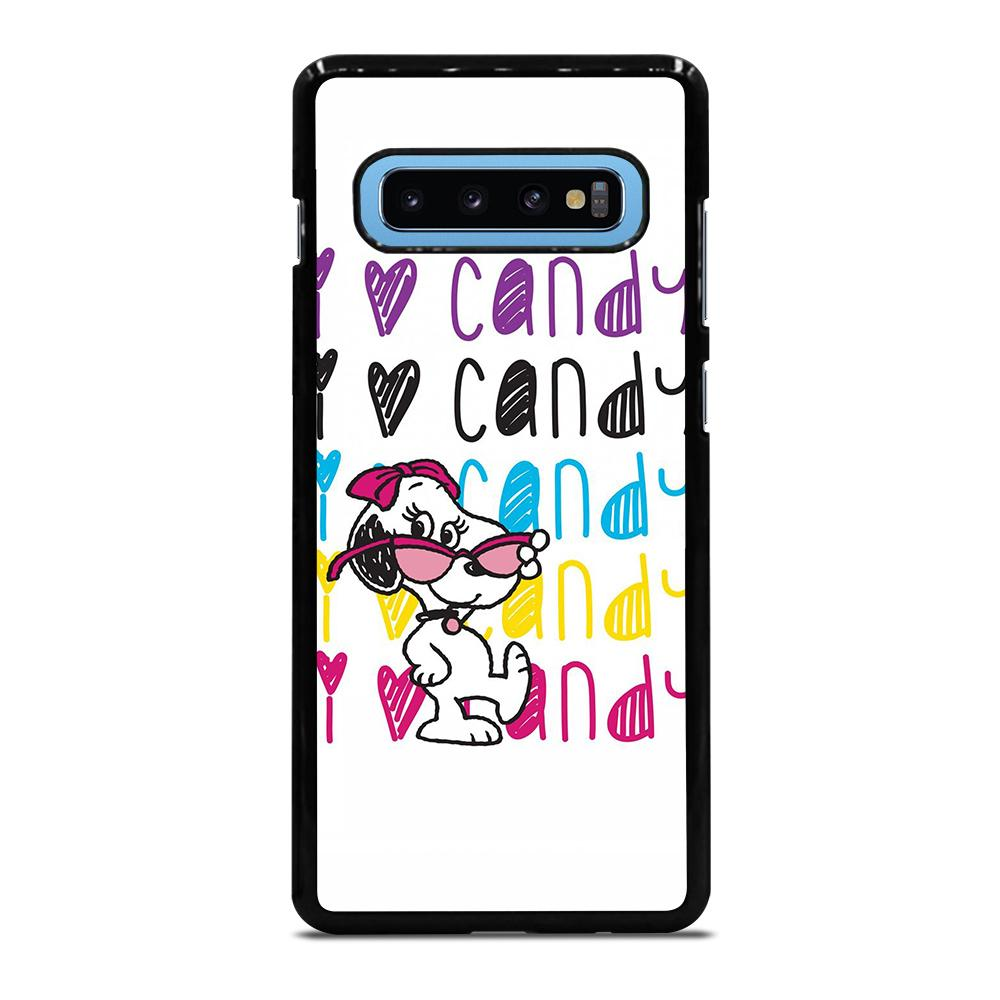 SNOOPY I LOVE CANDY Cover Samsung Galaxy S10 Plus