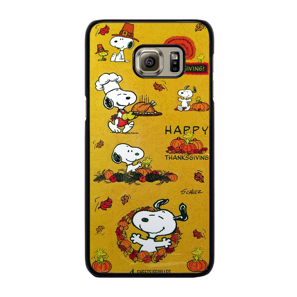 SNOOPY THE PEANUTS THANKSGIVING Cover Samsung Galaxy S6 Edge Plus
