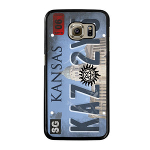 SUPERNATURAL LICENSE PLATE CUSTOM Cover Samsung Galaxy S6