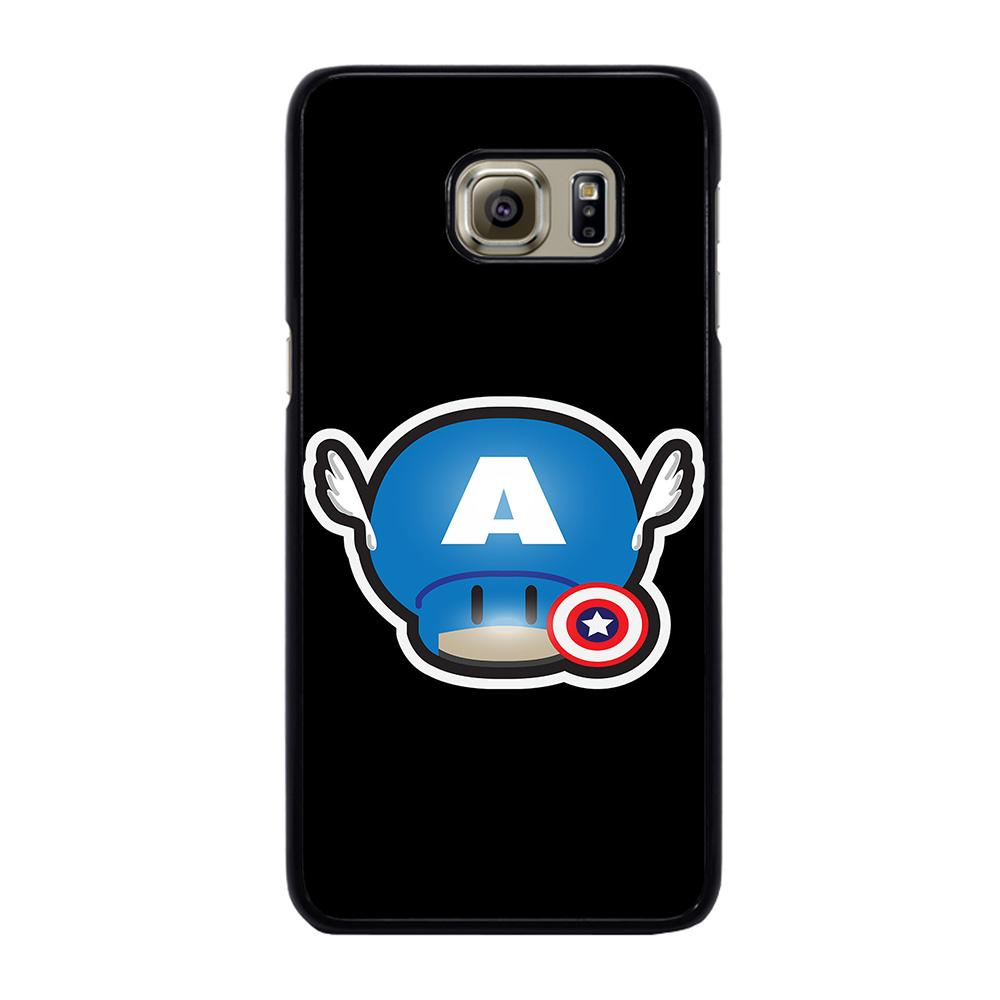 SUPER MARIO MUSHROOM CAPTAIN AMERICA Cover Samsung Galaxy S6 Edge Plus