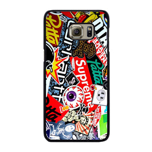 SUPREME STICKER AND OTHER BRAND Cover Samsung Galaxy S6 Edge Plus