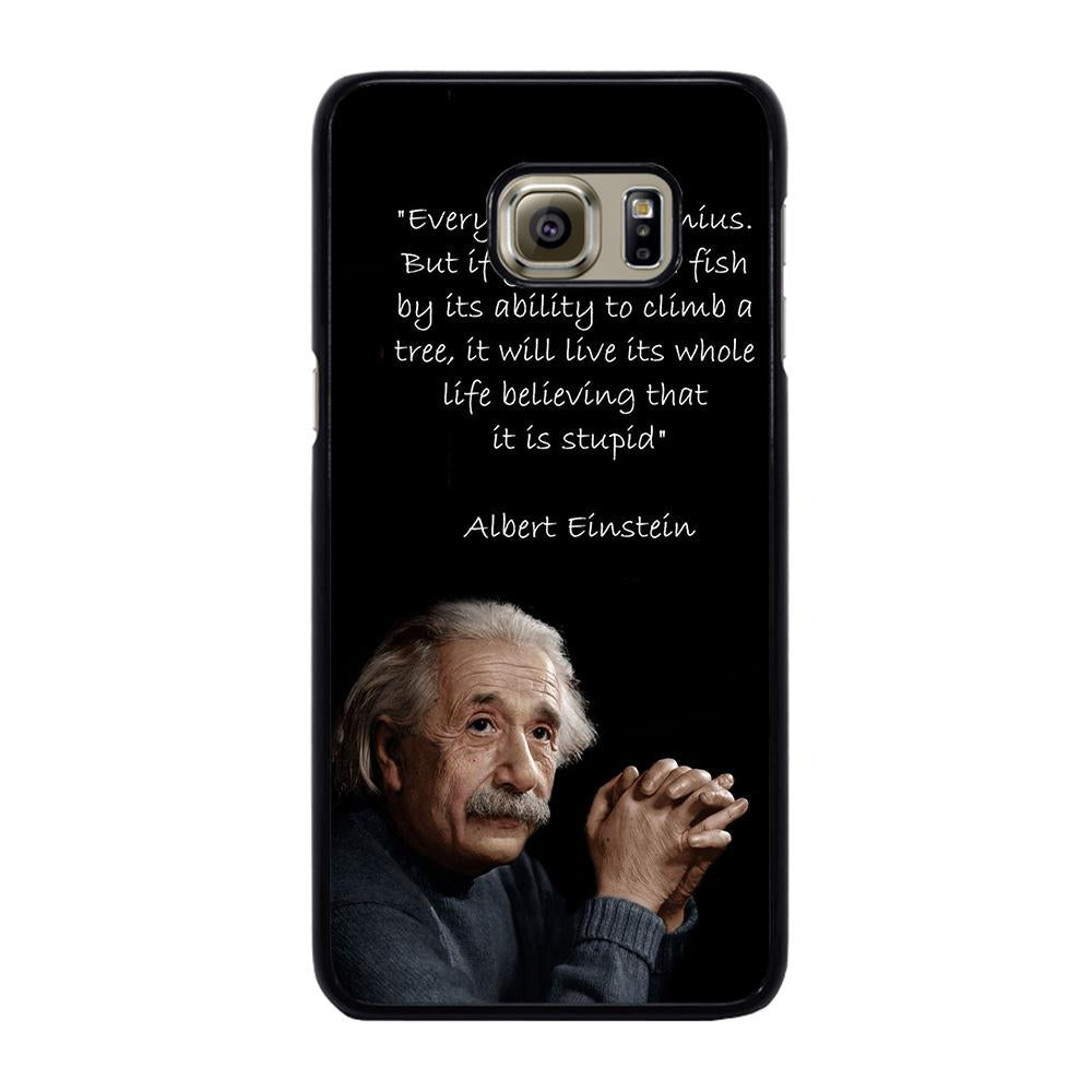 THE GENIUS ALBERT EINSTEIN QUOTE Cover Samsung Galaxy S6 Edge Plus
