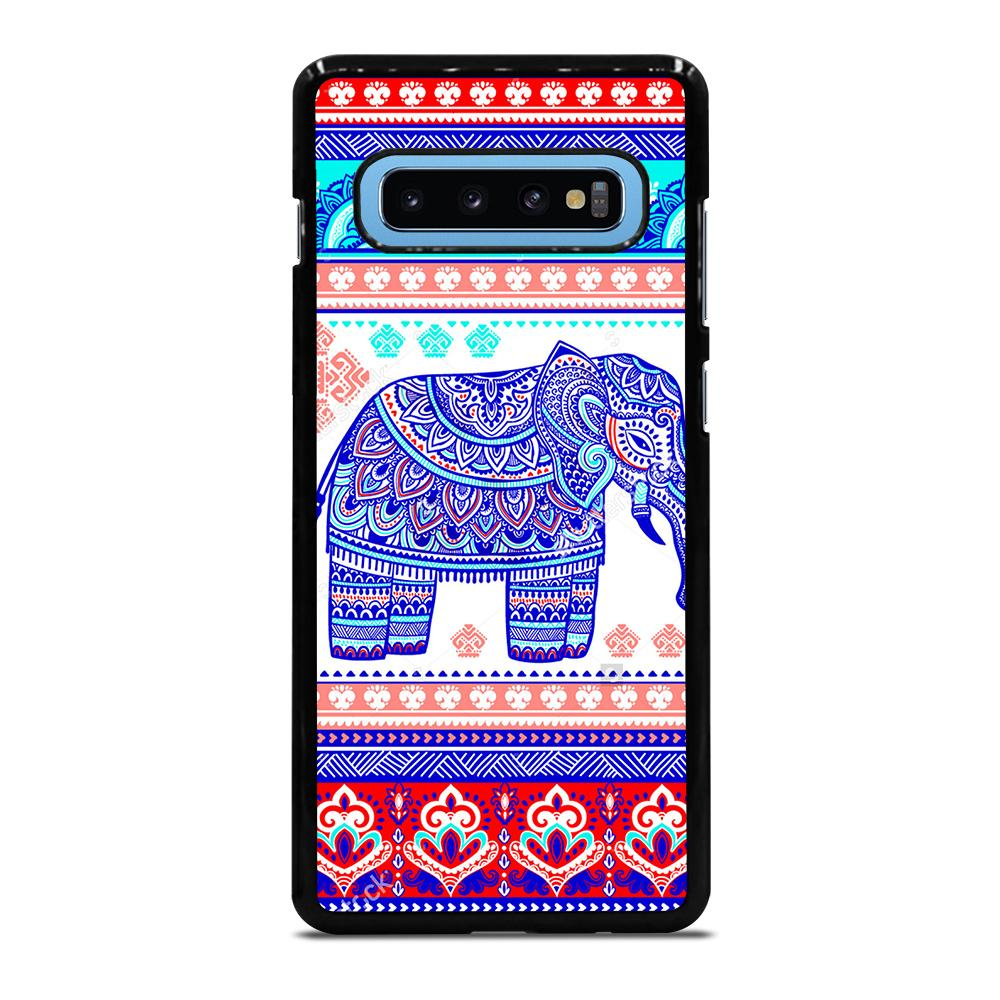 TRIBAL ORNAMENTSTOCK VECTOR ELEPANT Cover Samsung Galaxy S10 Plus