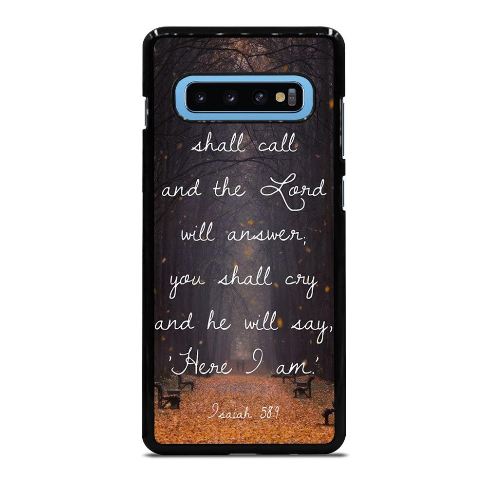 VERSES BIBLE SCRIPTURES Cover Samsung Galaxy S10 Plus