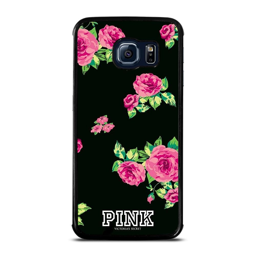 VICTORIA'S SECRET FLORAL PINK Cover Samsung Galaxy S6 Edge