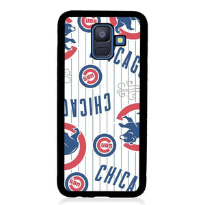 coque custodia cover fundas hoesjes j3 J5 J6 s20 s10 s9 s8 s7 s6 s5 plus edge B15461 Chichago Cubs FF0226 Samsung Galaxy A6 2018 Case