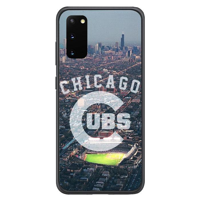 coque custodia cover fundas hoesjes j3 J5 J6 s20 s10 s9 s8 s7 s6 s5 plus edge B15404 Chicago Cubs City FF0227 Samsung Galaxy S20 Case
