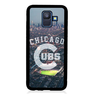 coque custodia cover fundas hoesjes j3 J5 J6 s20 s10 s9 s8 s7 s6 s5 plus edge B15384 Chicago Cubs City FF0227 Samsung Galaxy A6 2018 Case