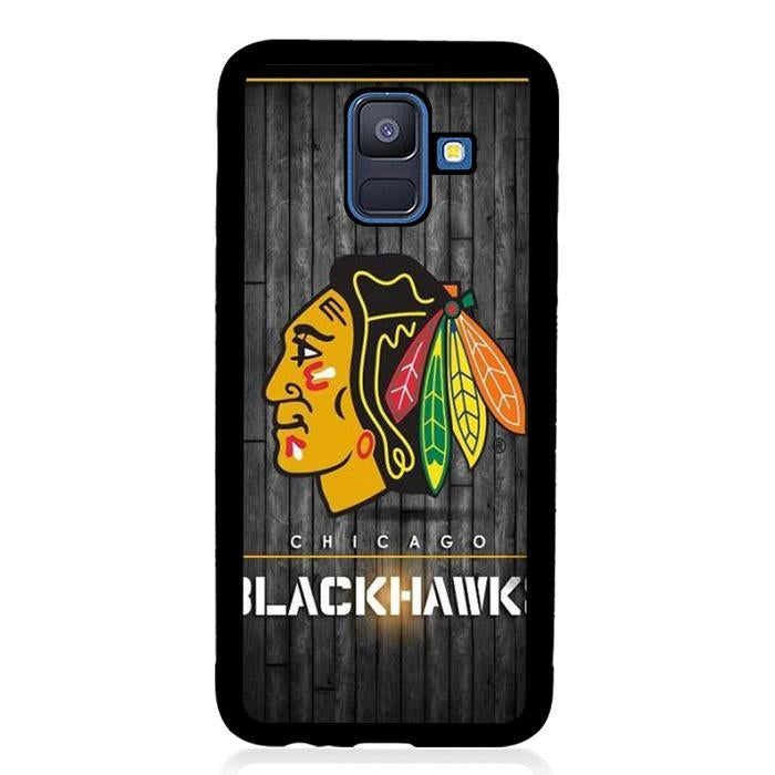 coque custodia cover fundas hoesjes j3 J5 J6 s20 s10 s9 s8 s7 s6 s5 plus edge B15284 Chicago Blackwaks FF0369 Samsung Galaxy A6 2018 Case