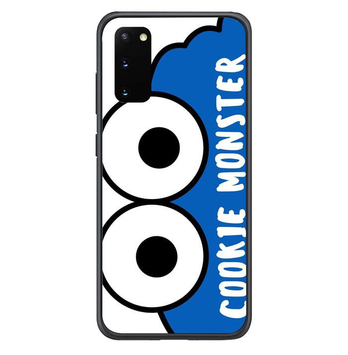 coque custodia cover fundas hoesjes j3 J5 J6 s20 s10 s9 s8 s7 s6 s5 plus edge B15902 Cookie Monster FF0451 Samsung Galaxy S20 Case