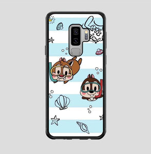 coque custodia cover fundas hoesjes j3 J5 J6 s20 s10 s9 s8 s7 s6 s5 plus edge B15514 Chip And Dale Blue FF0715 Samsung Galaxy S9 Plus Case