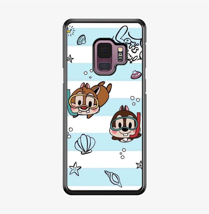 coque custodia cover fundas hoesjes j3 J5 J6 s20 s10 s9 s8 s7 s6 s5 plus edge B15513 Chip And Dale Blue FF0715 Samsung Galaxy S9 Case