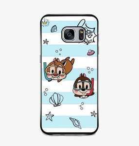 coque custodia cover fundas hoesjes j3 J5 J6 s20 s10 s9 s8 s7 s6 s5 plus edge B15512 Chip And Dale Blue FF0715 Samsung Galaxy S7 Case