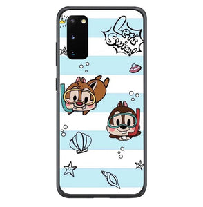 coque custodia cover fundas hoesjes j3 J5 J6 s20 s10 s9 s8 s7 s6 s5 plus edge B15511 Chip And Dale Blue FF0715 Samsung Galaxy S20 Case