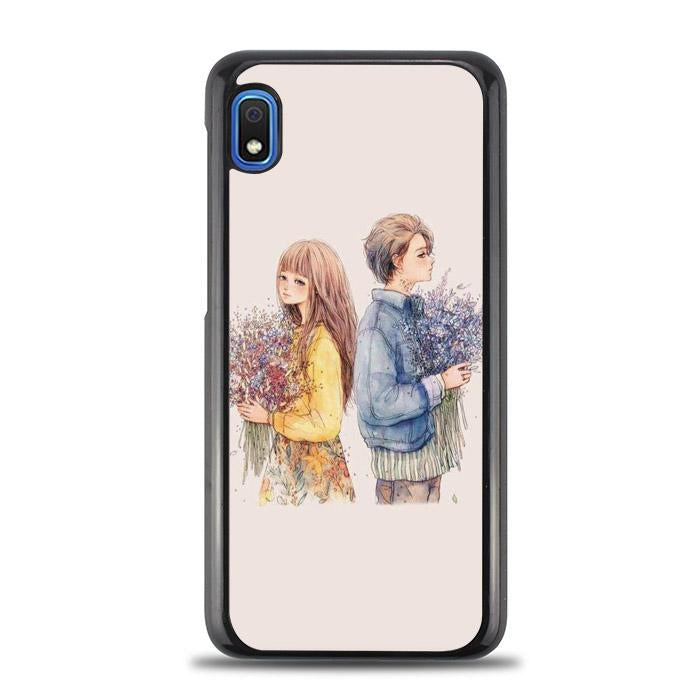 coque custodia cover fundas hoesjes j3 J5 J6 s20 s10 s9 s8 s7 s6 s5 plus edge B15938 Couple Art FF5005 Samsung Galaxy A10e Case