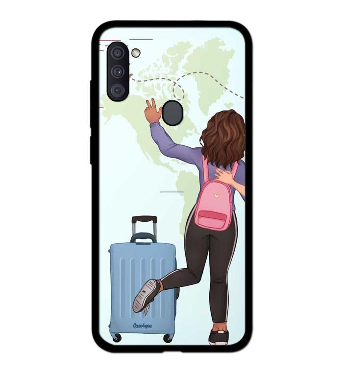coque custodia cover fundas hoesjes j3 J5 J6 s20 s10 s9 s8 s7 s6 s5 plus edge B15970 Couple Traveller FF5139 Samsung Galaxy A11 Case