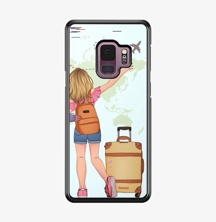 coque custodia cover fundas hoesjes j3 J5 J6 s20 s10 s9 s8 s7 s6 s5 plus edge B15985 Couple Traveller FF5140 Samsung Galaxy S9 Case