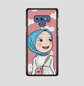 coque custodia cover fundas hoesjes j3 J5 J6 s20 s10 s9 s8 s7 s6 s5 plus edge B15255 Chibi Hijab FF51527 Samsung Galaxy Note 9 Case