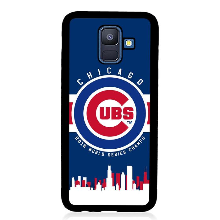 coque custodia cover fundas hoesjes j3 J5 J6 s20 s10 s9 s8 s7 s6 s5 plus edge B15430 CHICAGO CUBS LOGO B0179 Samsung Galaxy A6 2018 Case