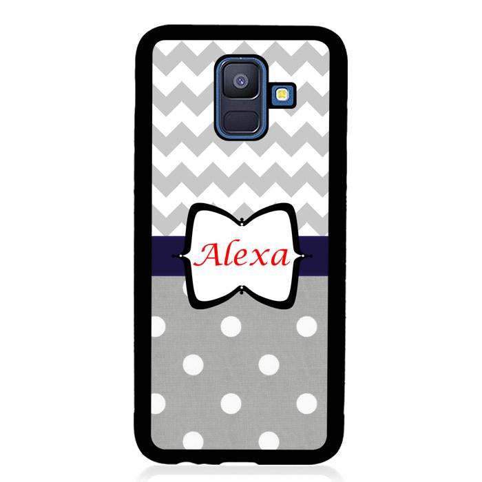 coque custodia cover fundas hoesjes j3 J5 J6 s20 s10 s9 s8 s7 s6 s5 plus edge B15212 Chevron Grey B0536 Samsung Galaxy A6 2018 Case