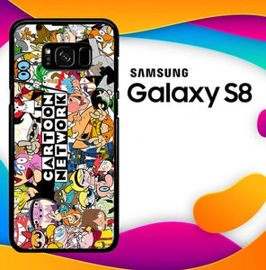 cartoon network collage Z1490 custodia cover Samsung Galaxy S8