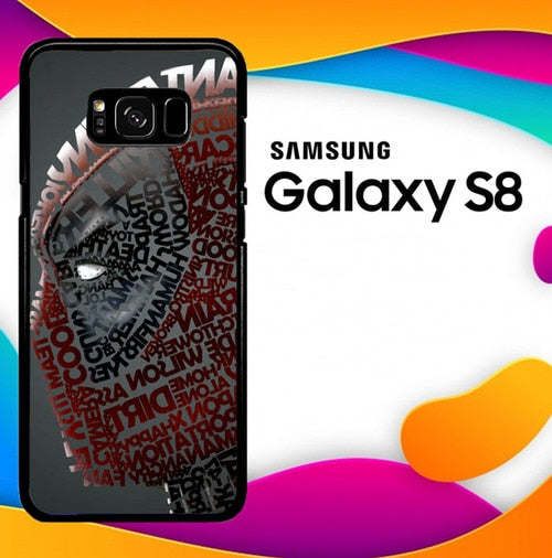 Deadpool typography Z1684 custodia cover Samsung Galaxy S8