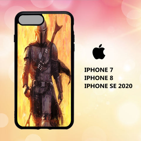 custodia cover iphone 5 6 7 8 plus x xs xr case A7064 wallpaper the mandalorian 261hP0