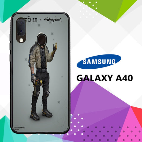 cover custodia case samsung galaxy a40 A7013 witcher 3 wallpaper 84mT9