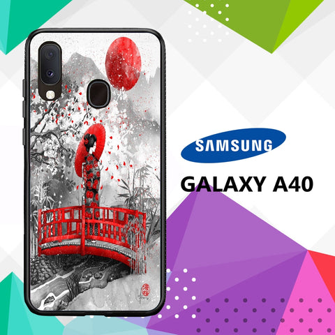 cover custodia case samsung galaxy a40 A7064 yakuza tattoo wallpaper 87zY7