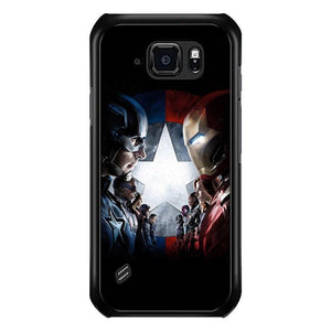 coque custodia cover fundas hoesjes j3 J5 J6 s20 s10 s9 s8 s7 s6 s5 plus edge B15627 Civil War FJ0768 Samsung Galaxy S6 Active Case