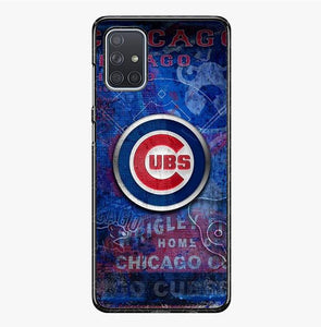 coque custodia cover fundas hoesjes j3 J5 J6 s20 s10 s9 s8 s7 s6 s5 plus edge B15419 Chicago Cubs FJ0989 Samsung Galaxy A71 Case
