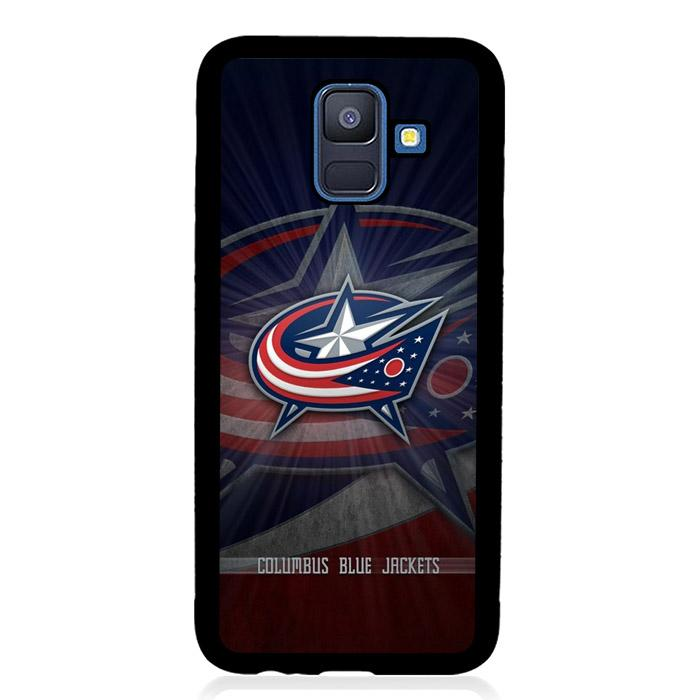 coque custodia cover fundas hoesjes j3 J5 J6 s20 s10 s9 s8 s7 s6 s5 plus edge B15779 Columbus Bluejackets FJ1018 Samsung Galaxy A6 2018 Case