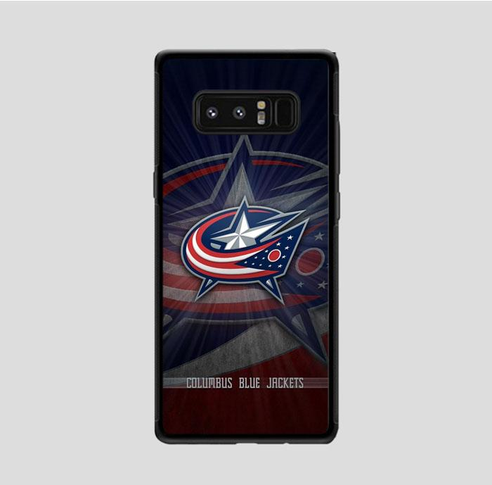 coque custodia cover fundas hoesjes j3 J5 J6 s20 s10 s9 s8 s7 s6 s5 plus edge B15795 Columbus Bluejackets FJ1018 Samsung Galaxy Note 8 Case