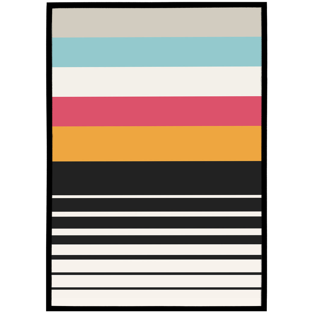 Abstract Lines Bauhaus Poster