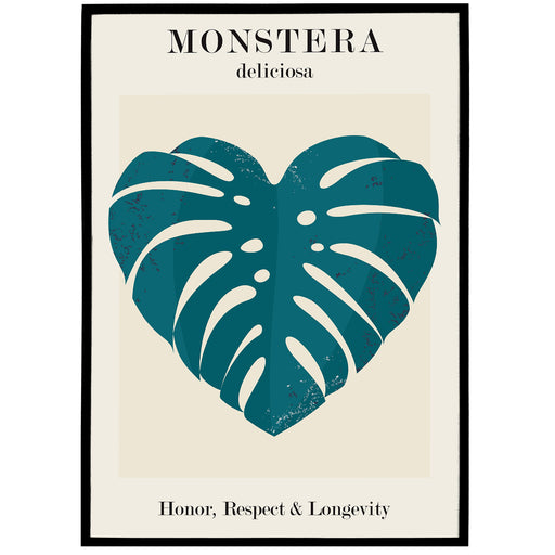 Cute Monstera Illustration Print